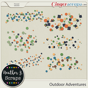 Outdoor Adventures SCATTERS by Heather Z Scraps
