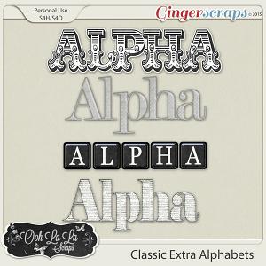 Classic Extra Alphabets