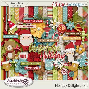 Holiday Delights - Kit by Aprilisa Designs