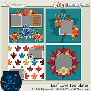 Leaf Love Templates by Miss Fish Templates