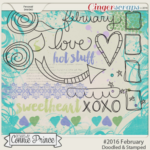 #2016 February - Doodles & Stamps