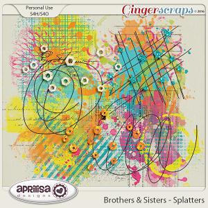 Brothers & Sisters - Splatters by Aprilisa Designs