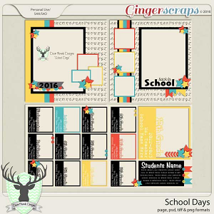 School Days by Dear Friends Designs