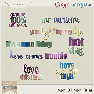Man Oh Man Titles by JoCee Designs