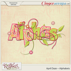 April Daze Alphabets