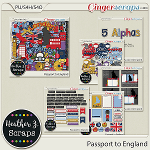 Passport to England BUNDLE by Heather Z Scraps