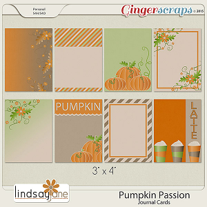 Pumpkin Passion Journal Cards by Lindsay Jane