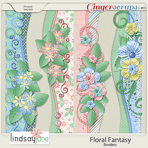 Floral Fantasy Borders by Lindsay Jane