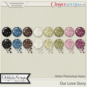 Our Love Story CU Glitter Photoshop Styles