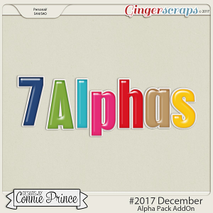 #2017 December - Alpha Pack AddOn by Connie Prince