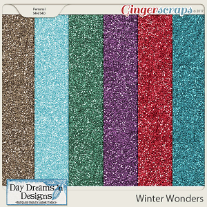 Winter Wonders {Glitter Papers} by Day Dreams 'n Designs