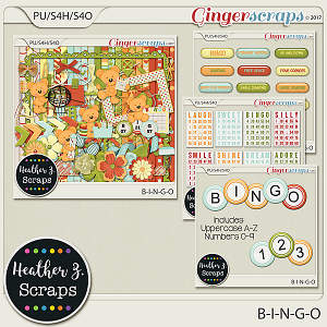B-I-N-G-O BUNDLE by Heather Z Scraps