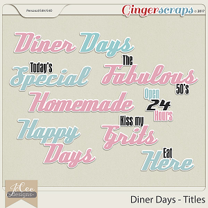 Diner Days Titles