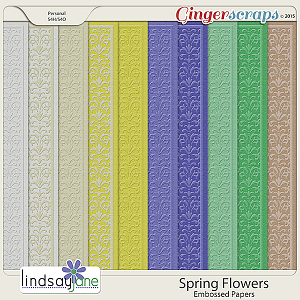 Spring Flowers Embossed Papers by Lindsay Jane