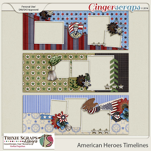 American Heroes Timelines by Trixie Scraps Designs