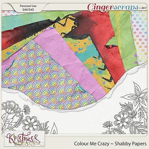 Colour Me Crazy Shabby Papers