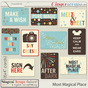 Most Magical Place - Journal Cards