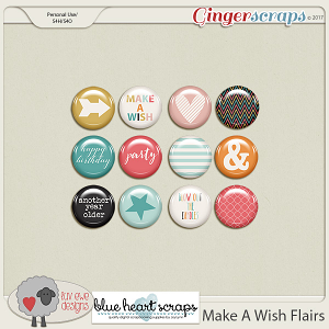 Make A Wish Flairs by Luv Ewe Designs and Blue Heart Scraps