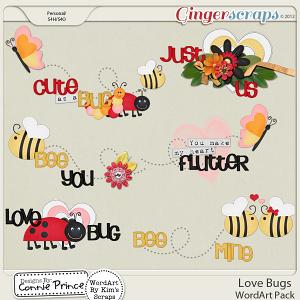 Love Bugs - WordArt