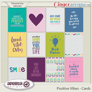Positive Vibes - Cards by Aprilisa Designs