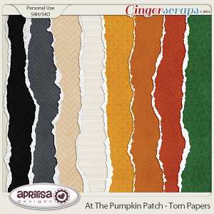 At The Pumpkin Patch - Torn Papers by Aprilisa Designs