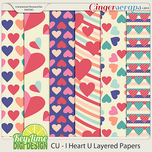 CU I Heart U Layered Templates