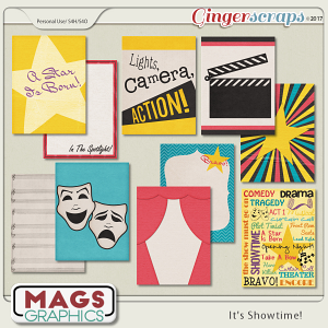It's Showtime JOURNAL CARDS by MagsGraphics