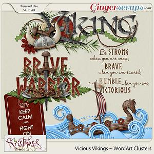 Vicious Vikings WordArt Clusters