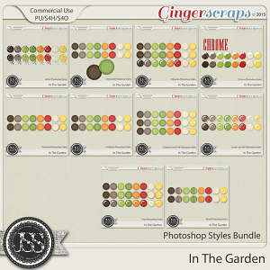 In The Garden Photoshop Styles Bundle