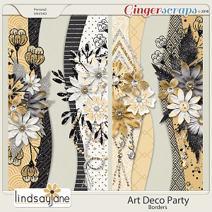 Art Deco Party Borders by Lindsay Jane