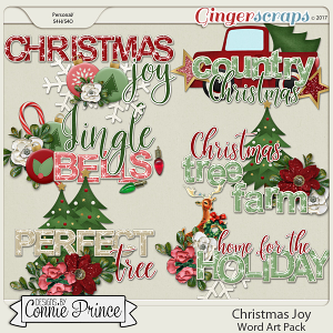 Christmas Joy - WordArt Pack
