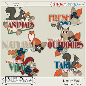 Nature Walk - Word Art