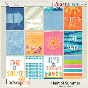 Heat of Summer Journal Cards by Lindsay Jane