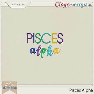 Pisces Alphas by JoCee Designs