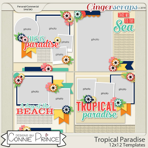 Tropical Paradise - 12x12 Temps (CU Ok) by Connie Prince