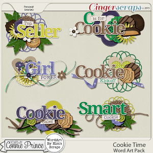 Cookie Time - Word Art
