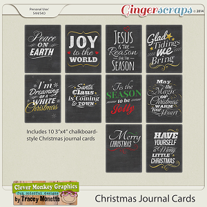 Christmas Journal Cards by Clever Monkey Graphics