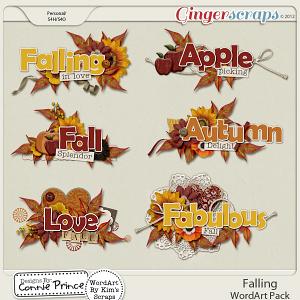 Falling - Word Art