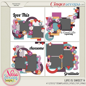 Life is Sweet 9 - Templates - By Neia Scraps