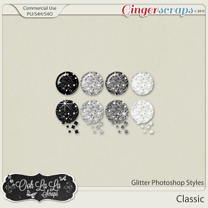 Classic Glitter Photoshop Styles