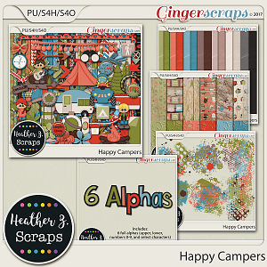 Happy Campers BUNDLE by Heather Z Scraps