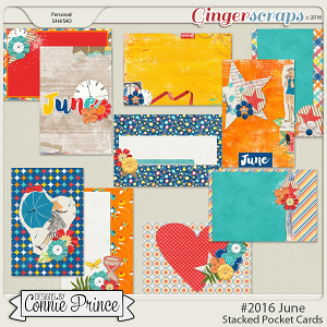#2016 June - Stacked Pocket Cards