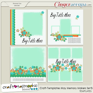 Craft-Templates May Memory Makers Set 3