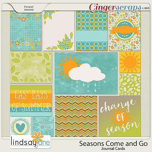Seasons Come and Go Journal Cards by Lindsay Jane