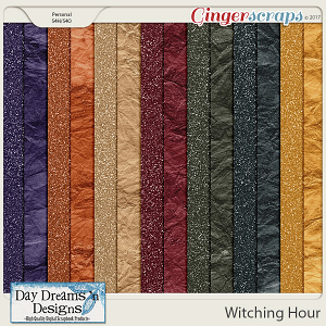 Witching Hour {Glitter Papers} by Day Dreams 'n Designs