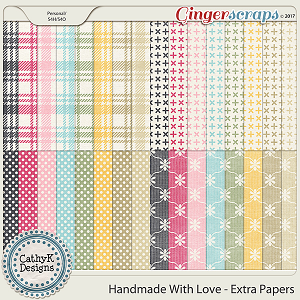 Handmade with Love - Extra Papers