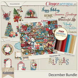 December Bundle with FREE WITH PURCHASE by JoCee Designs