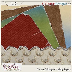 Vicious Vikings Shabby Papers