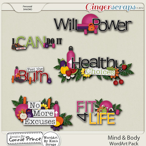 Mind & Body - WordArt Pack