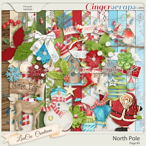 North Pole Page Kit